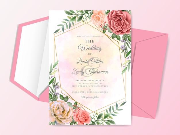 Ручная роспись свадебного приглашения