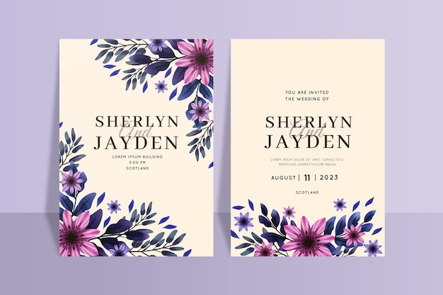 Hand paintedwedding invitation