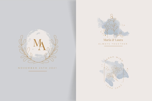 Hand painted wedding monograms collection