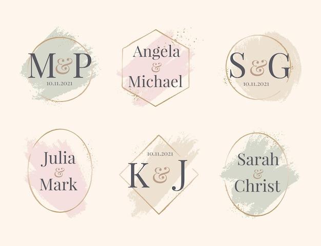 Hand painted wedding monograms