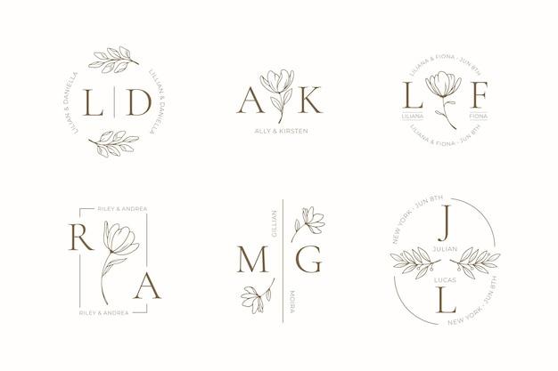 Ручная роспись свадебных монограмм