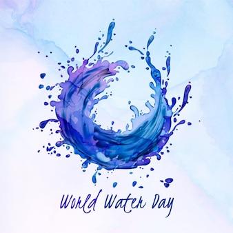 Раскрашенный вручную всемирный день воды