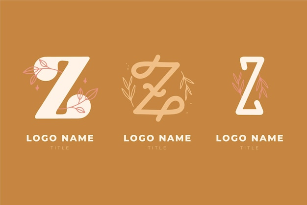 Hand painted #z letter logo collection
