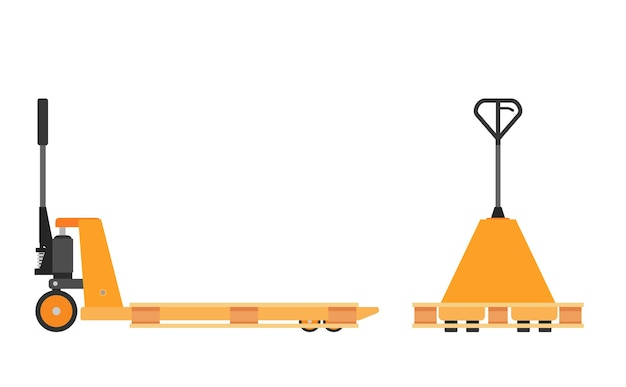 Hand pallet jack lift isolated on white.