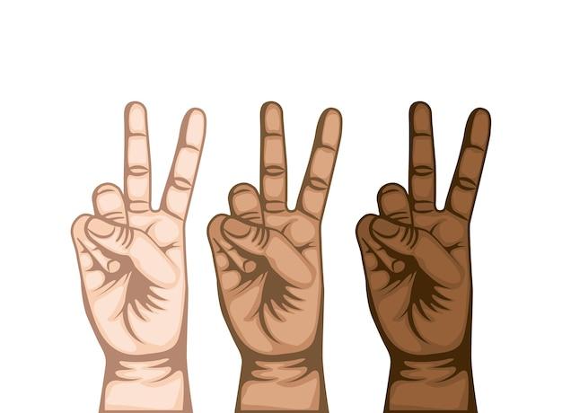 手の平和と愛のシンボル