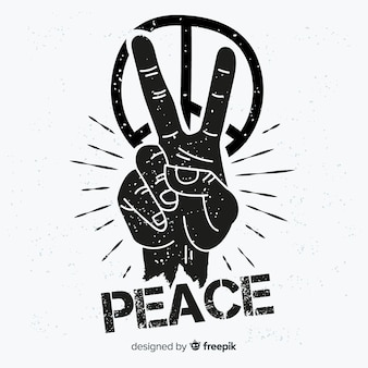 Hand peace symbol background