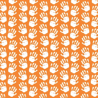 Hand prints pattern background