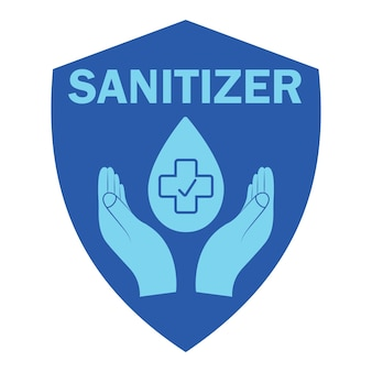 Hand sanitizer blue color icon sanitizer symbol concept of hygiene cleanliness disinfection