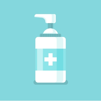 Hand sanitizer illustration in flat design