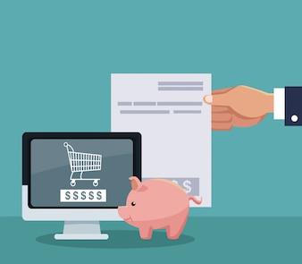 Hand shopping online