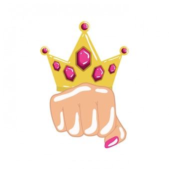 Hand in sign power pop art