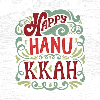 Hand sketched happy hanukkah logotype, badge and icon typography. hand drawn happy hanukkah logo template. happy hanukkah card template. happy hanukkah banner, flyer