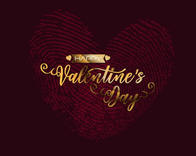 Hand sketched happy valentine's day text as valentine's day logotype badge/icon.