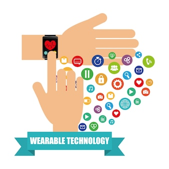 Hand smart watch health electronic wearable technology