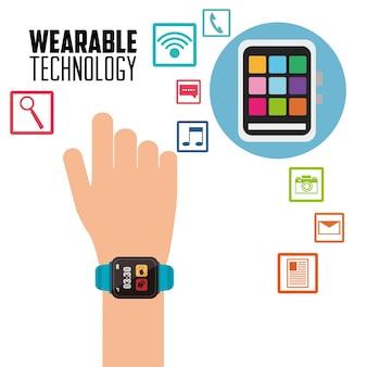 Hand smart watch new wearable technology