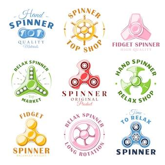 ハンドスピナーのラベルとロゴ