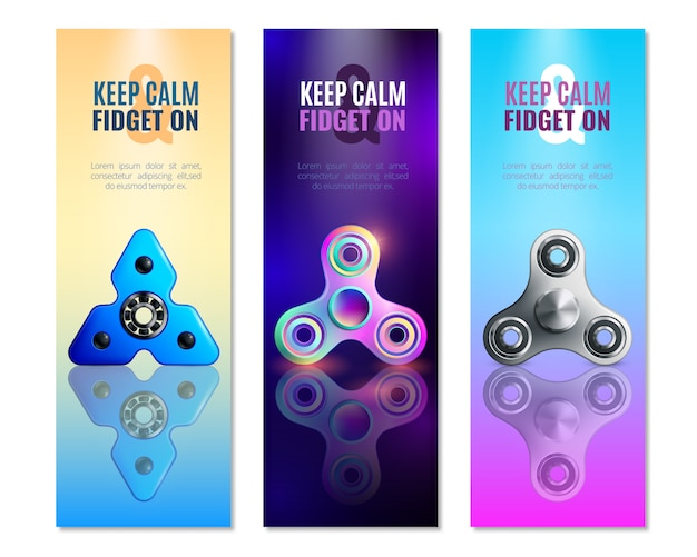 Hand spinner toys vertical banner set