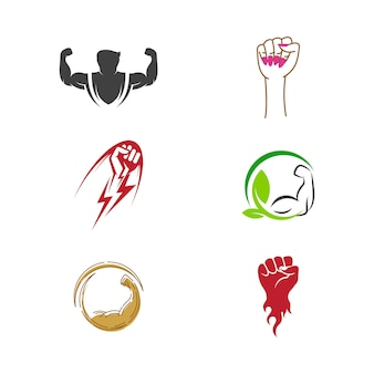 Hand strong template vector icon illustration design