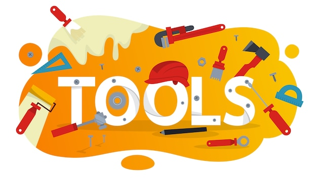 Hand tool concept. equipment for the repair