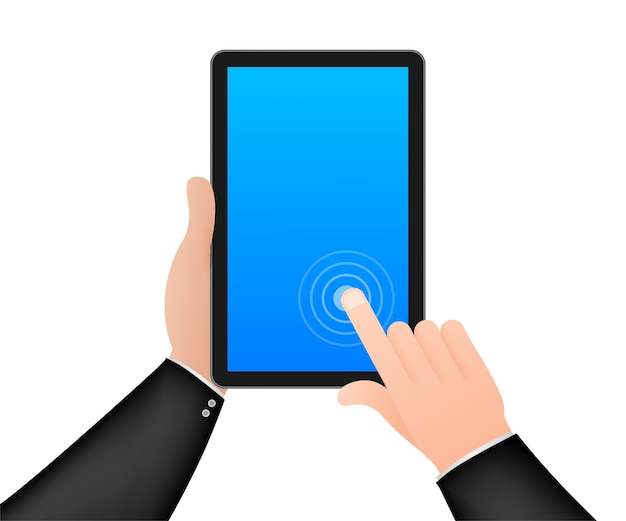 ハンドタッチスクリーンスマートフォンアイコン