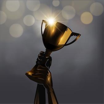 Hand up trophy