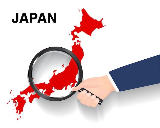 日本の地図上で検索する虫眼鏡