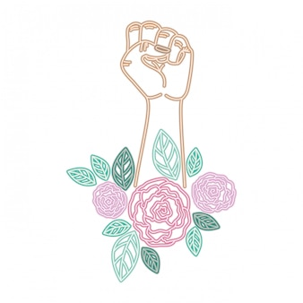 Hand with flower avatar character