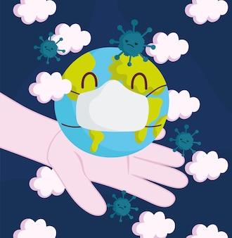 Рука с зараженным миром