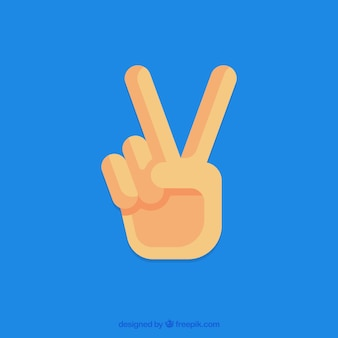 Hand with peace sign