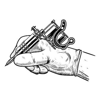 Рука с татуировкой. элемент для плаката, карты, футболки, эмблемы, знака. иллюстрация