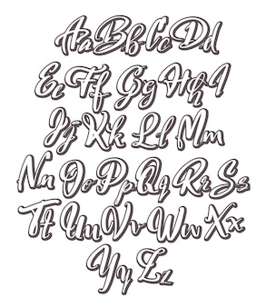 Hand written alphabet design