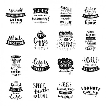 Hand written quotes collection