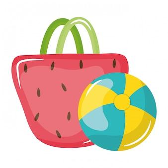 Handbag female with balloon plastic toy