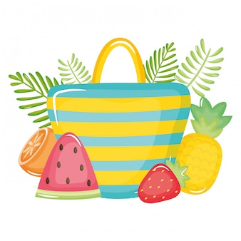 Handbag female with summer fruits