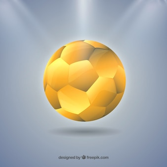 Handball ball in golden color