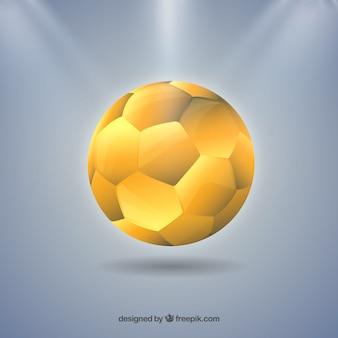 Handball ball in golden color