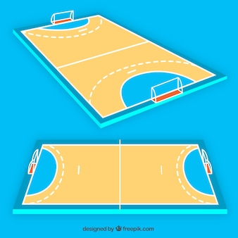 Handball field in perspective