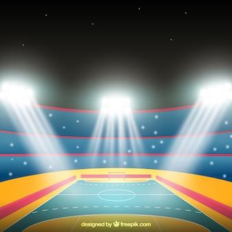 Handball field in realistic style