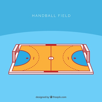 Handball field with perspective