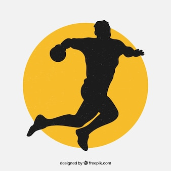 Handball player silhouette