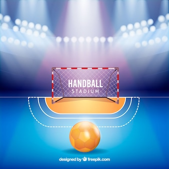 Handball stadium in realistic style