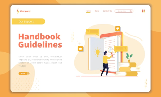 Handbook guidelines landing page