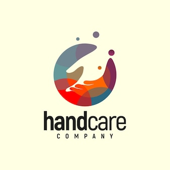 Логотип handcare colorful