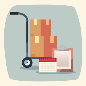 Handcart fast delivery related icon