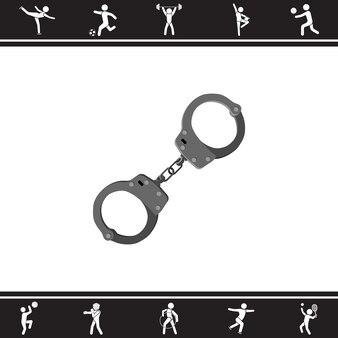 Handcuffs. vector illustration