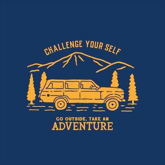 Handdrawn adventure illustration