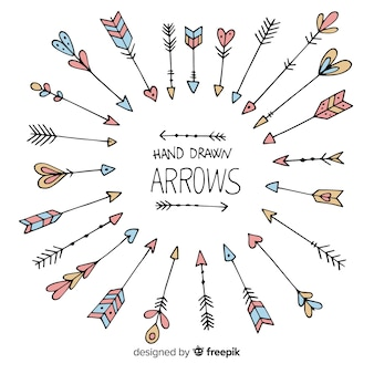 Handdrawn arrow collection