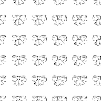 Handdrawn каракули бесшовные значок галстук. ручной обращается черный эскиз. знак знака. элемент декора. белый фон. изолированный. плоский дизайн. векторная иллюстрация.