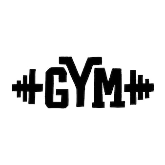 Handdrawn lettering quote gym active lifestyle vector calligraphy lettering