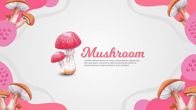 Handdrawn грибной фон